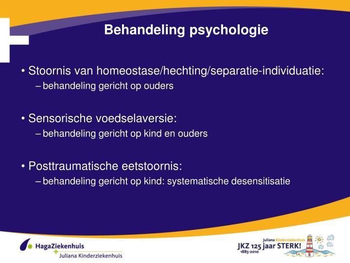 Behandeling psychologie