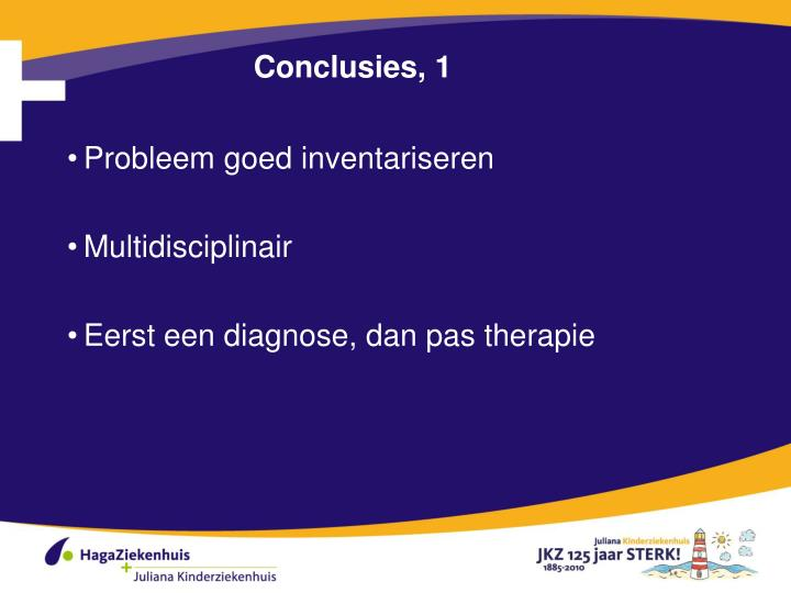 Conclusies, 1
