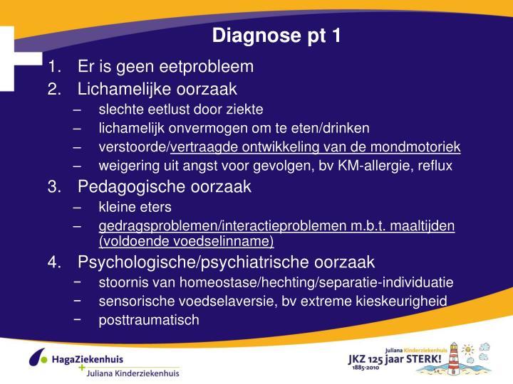 Diagnose pt 1