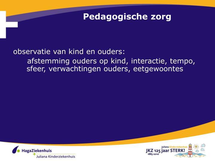 Pedagogische zorg