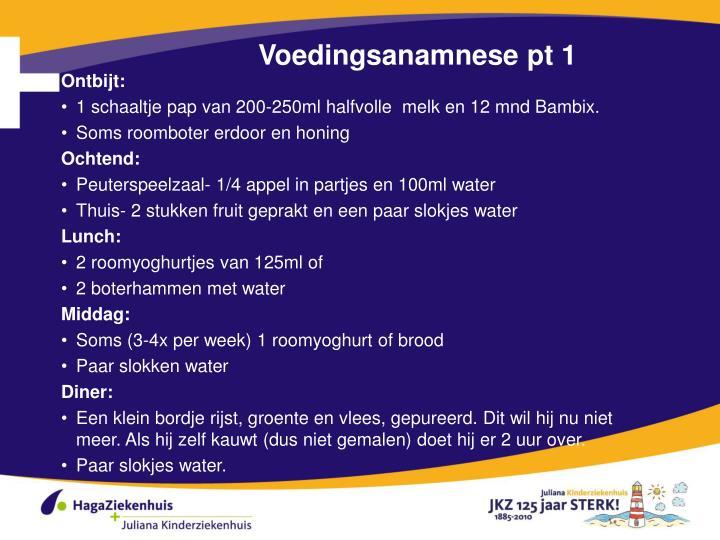 Voedingsanamnese pt 1
