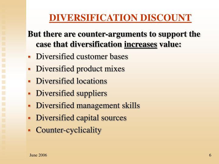 DIVERSIFICATION DISCOUNT