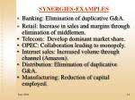 synergies examples