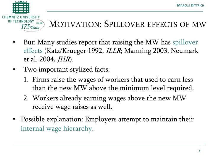 Motivation spillover effects of mw