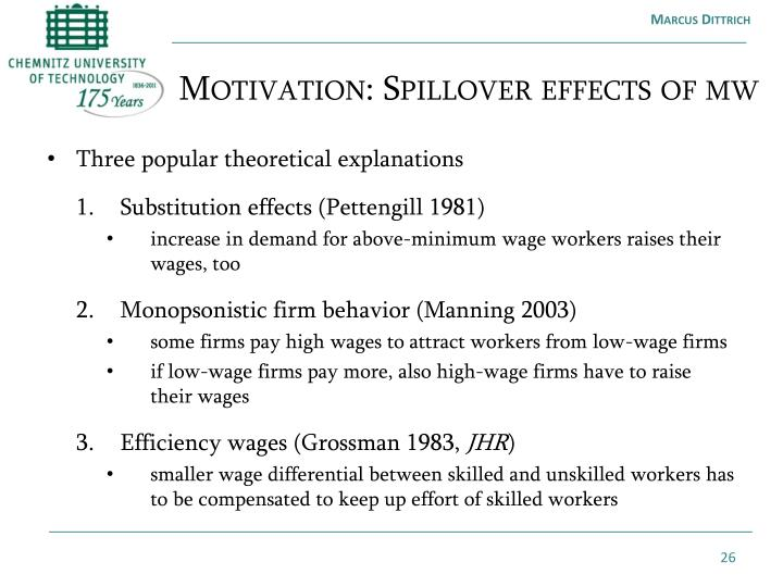 Motivation: Spillover