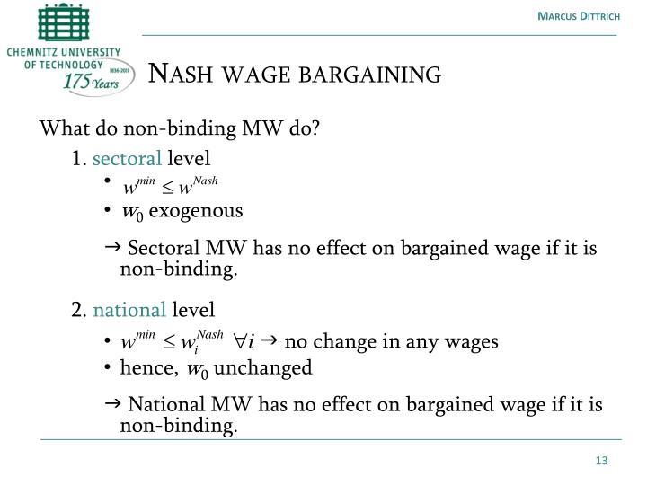 Nash wage
