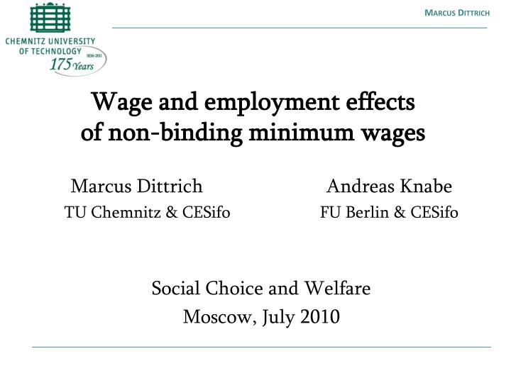 Wage and employment effects