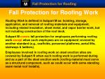 fall protection for roofing work