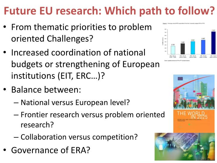 Future EU research: Which path to follow?