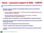 socio economic impact of iesl forth
