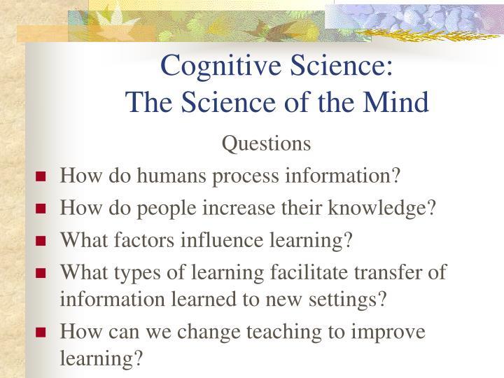 Cognitive Science:
