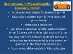 license laws in massachusetts learner s permit