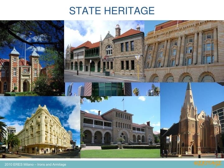STATE HERITAGE