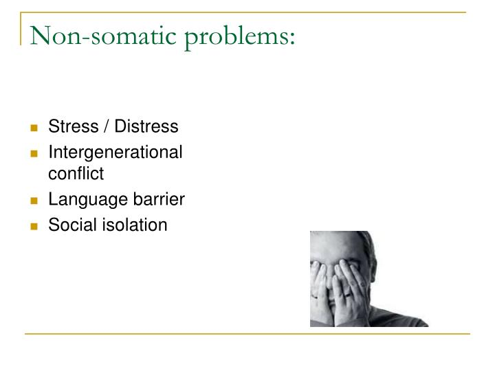 Non-somatic problems: