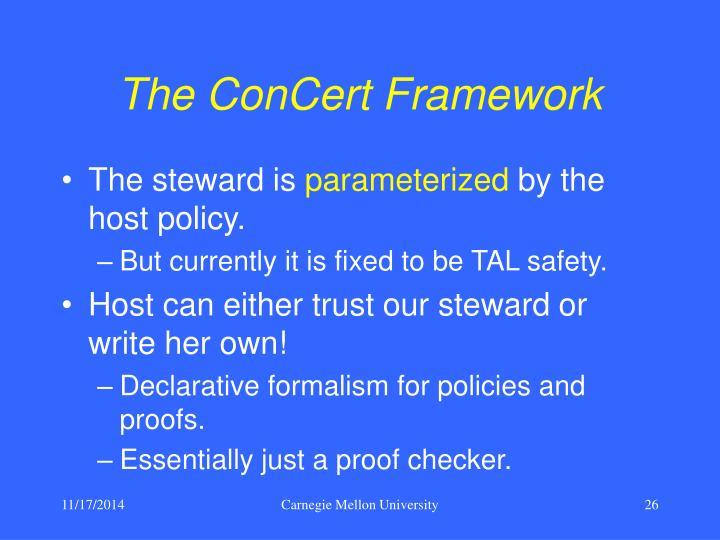 The ConCert Framework