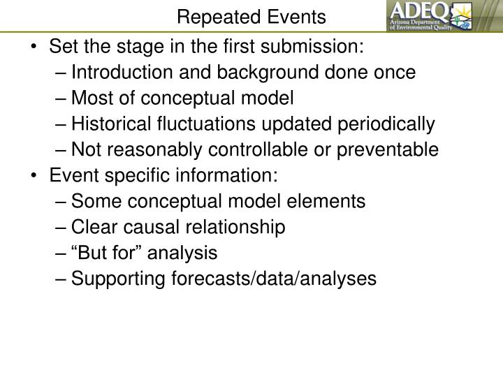 Repeated Events
