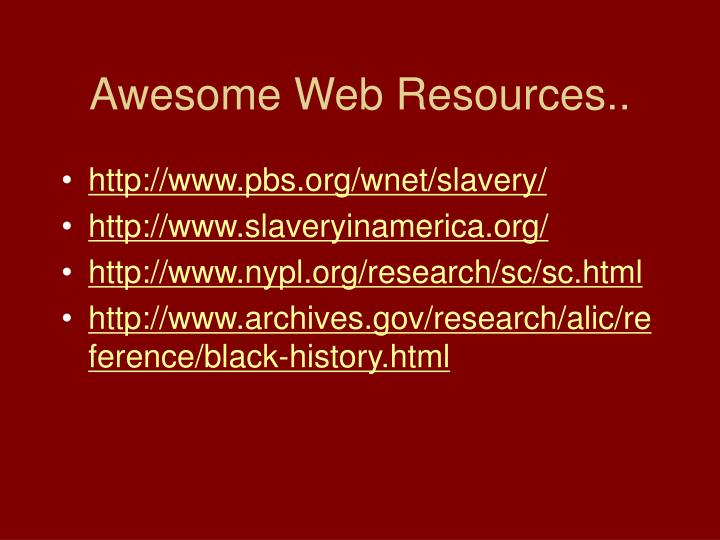 Awesome web resources