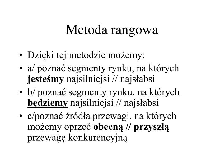 Metoda rangowa