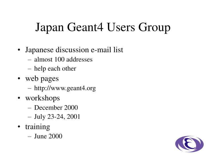 Japan geant4 users group