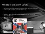 what are jim crow laws