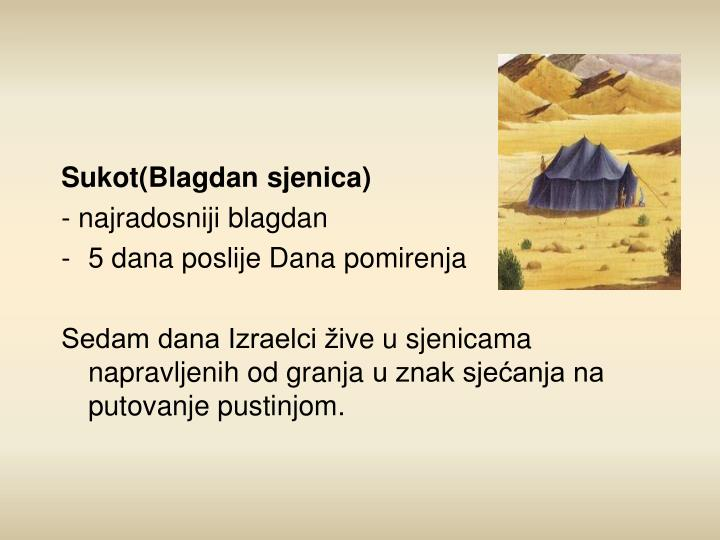 Sukot(Blagdan sjenica)