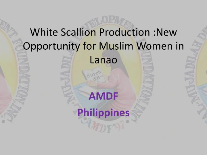 white scallion production new opportunity for muslim women in lanao