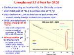 unexplained 3 7 d peak for grgs