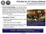 priorities for 21 st century defense an operational perspective