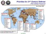 priorities for 21 st century defense fao global presence