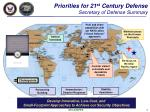 priorities for 21 st century defense secretary of defense summary