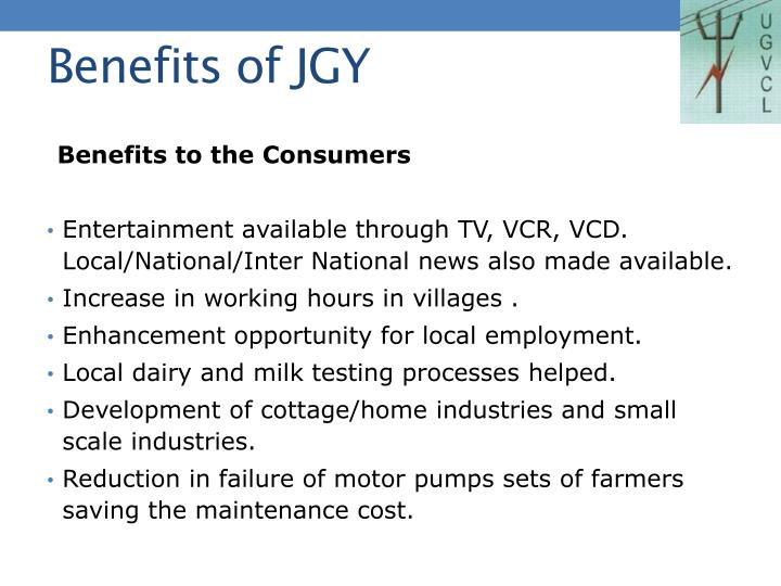 Benefits of JGY