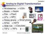analog to digital transformation