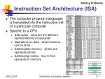 instruction set architecture isa