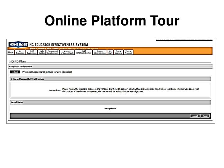 Online Platform Tour