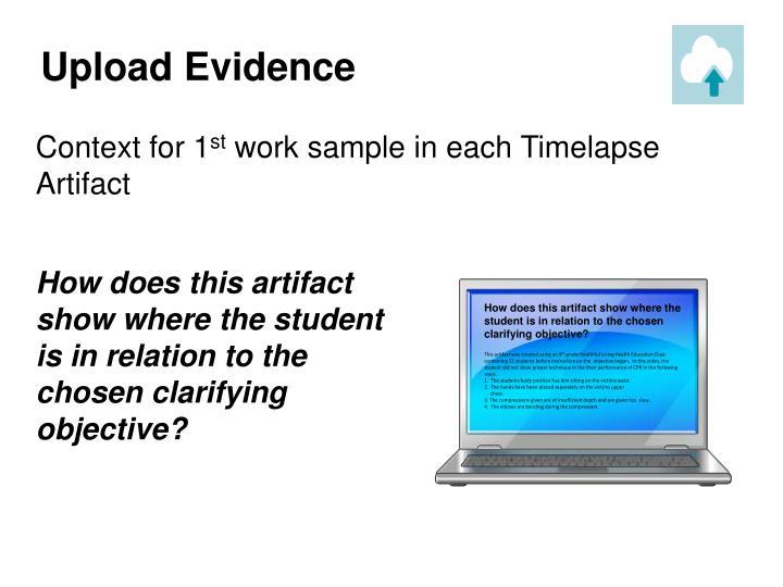 Upload Evidence