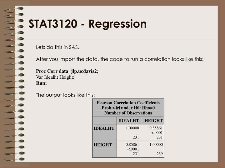 STAT3120 - Regression