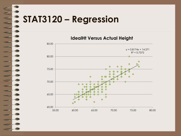 STAT3120 – Regression