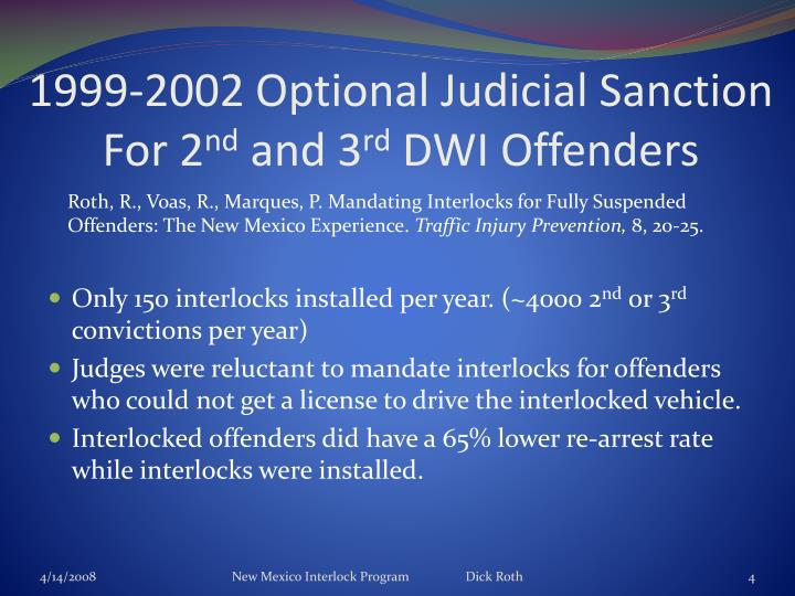 1999-2002 Optional Judicial Sanction For 2