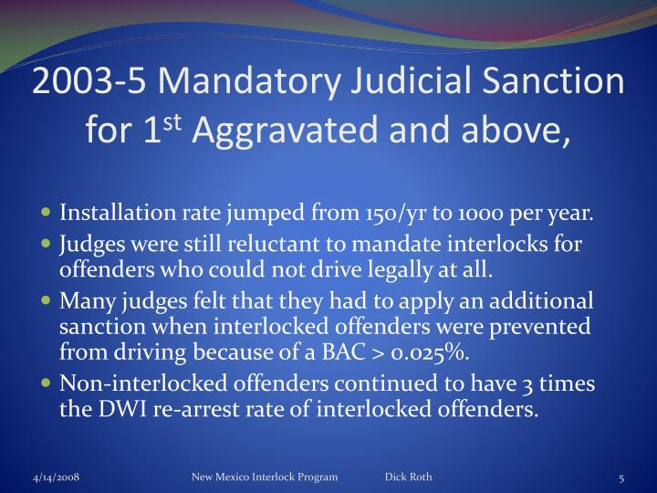 2003-5 Mandatory Judicial Sanction