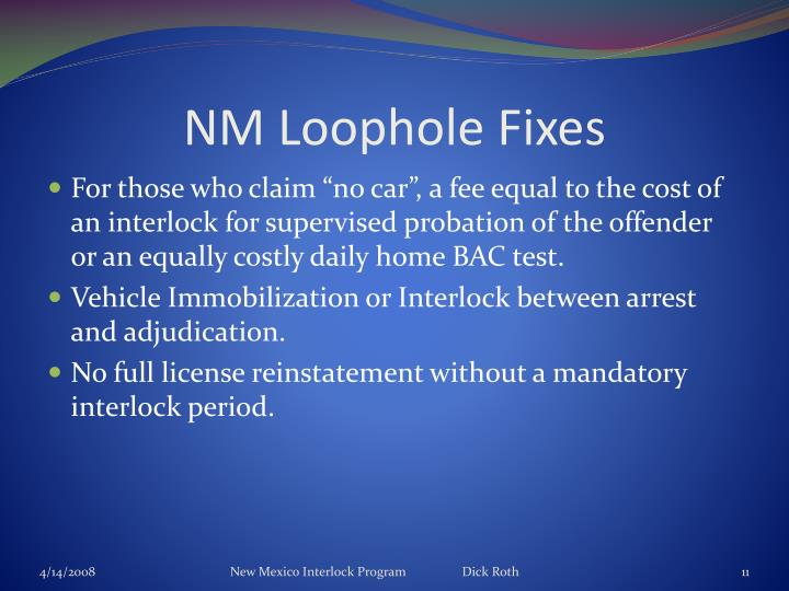 NM Loophole Fixes