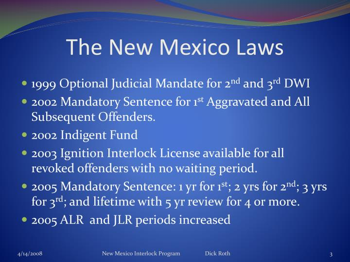 The New Mexico Laws