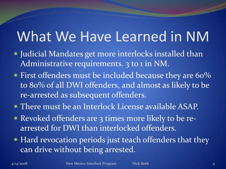 What We Have Learned in NM