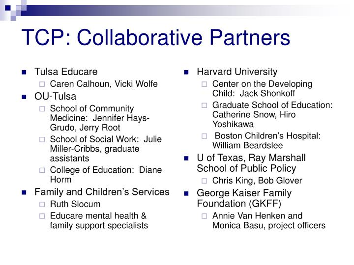 Tcp collaborative partners