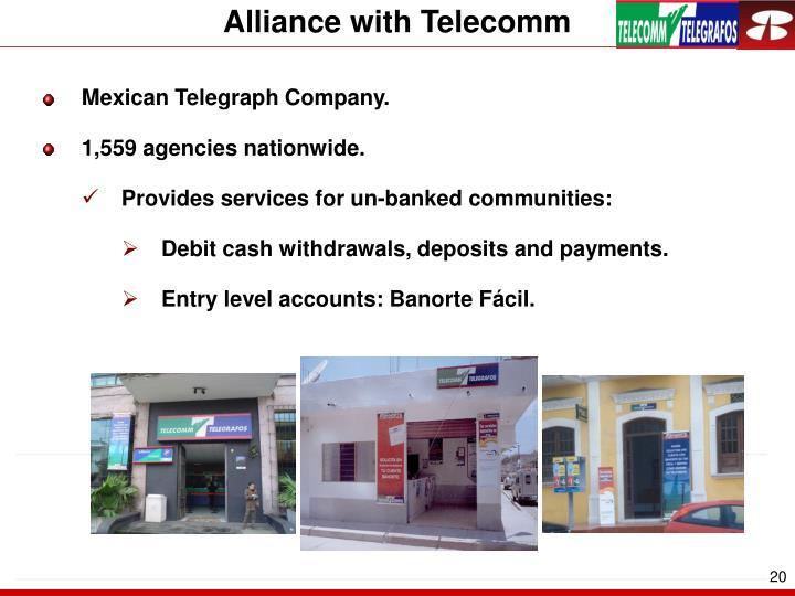 Alliance with Telecomm