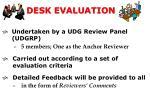 desk evaluation