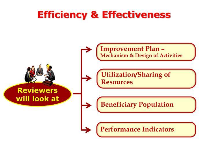 Efficiency & Effectiveness