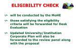 eligibility check