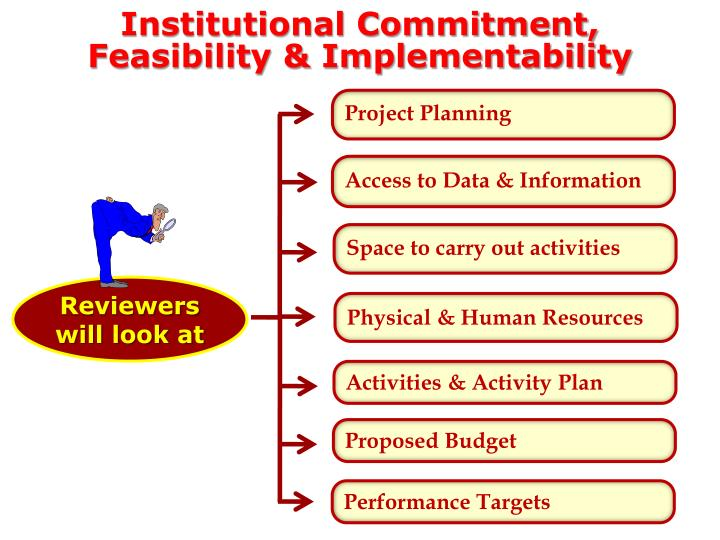 Institutional Commitment, Feasibility & Implementability