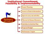 institutional commitment feasibility implementability1