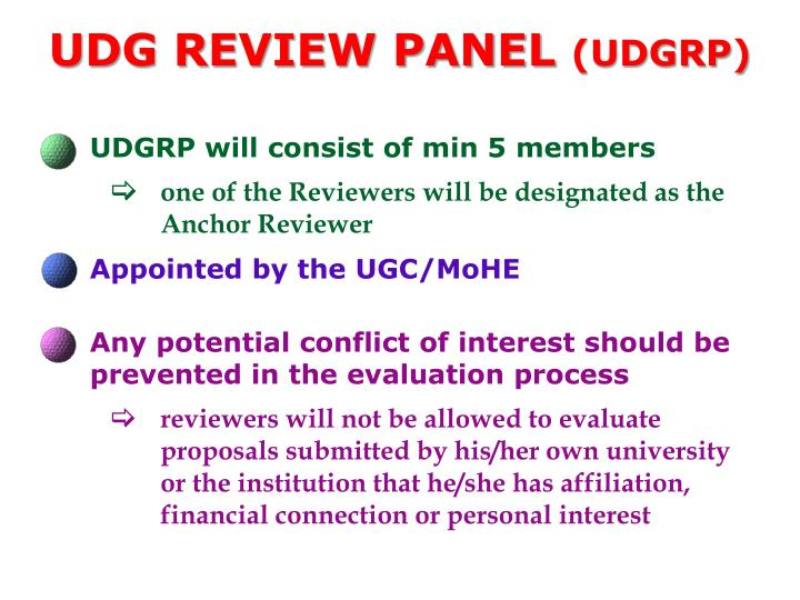 UDG Review Panel